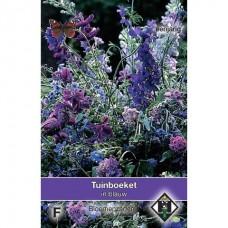 Tuinboeket in blauw